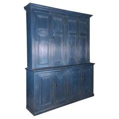 English Painted Housekeepers Cupboard