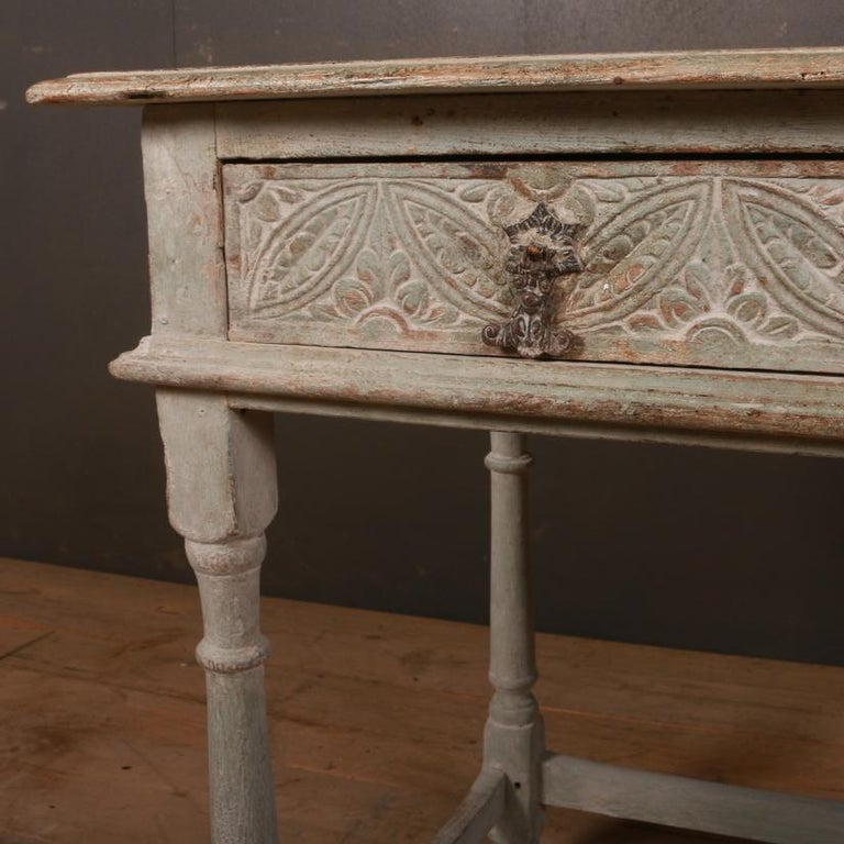 George III English Painted Lamp Table For Sale