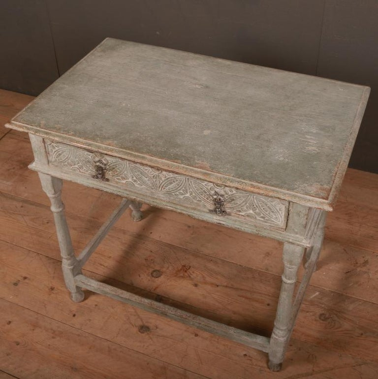 18th Century and Earlier English Painted Lamp Table For Sale