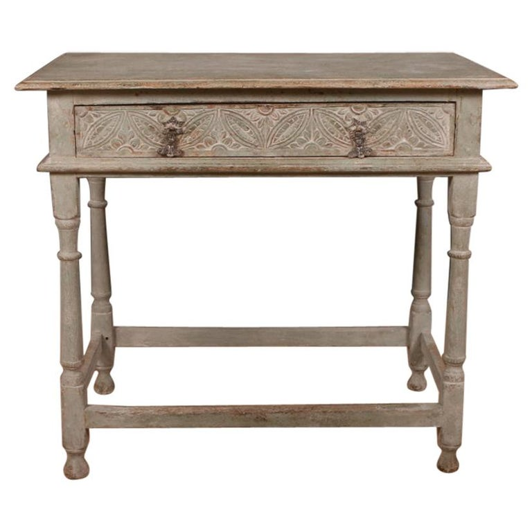 English Painted Lamp Table For Sale