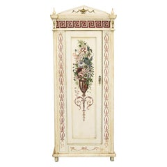 English Painted Pine Armoire