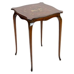 English Painted Satinwood Occasional Table