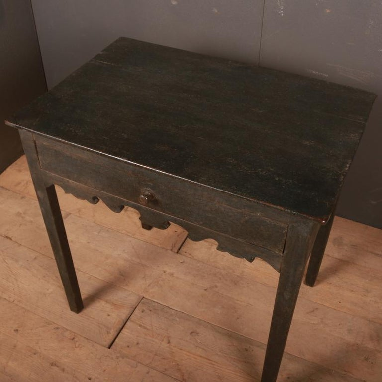 George III English Painted Side Table For Sale