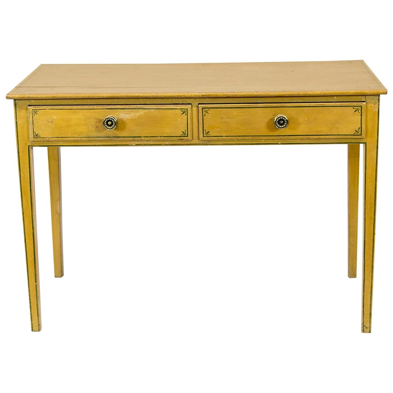 English Painted Two-Drawer Side Table
