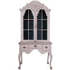 English Painted Vitrine