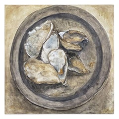 """English Painting, Oil on Canvas, """"Oysters"""" by Anne Fowler"""