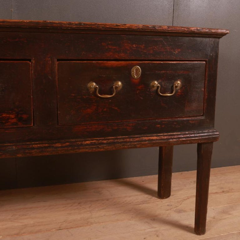 George III English Patinated Pine Dresser Base For Sale