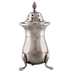 English Pepper Shaker in Silver, from Large Private Collection