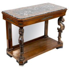 English Pietra Dura Console Table