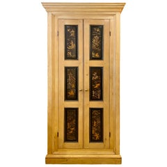 English Pine and Japanned Cabinet