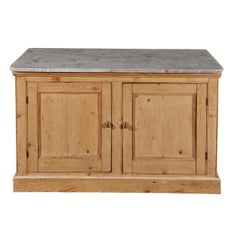 English Pine Cabinet with Marble Top