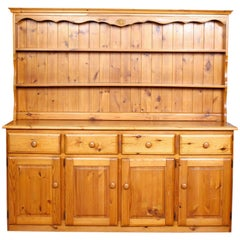 English Pine Dresser Long Carved Country Kitchen Welsh Dresser Farmhouse
