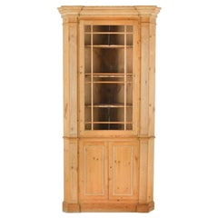 English Pine Georgian Revival Corner Cabinet