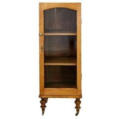 English Pine Glass Door Cupboard