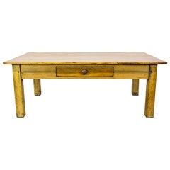 English Pine One Drawer Coffee Table