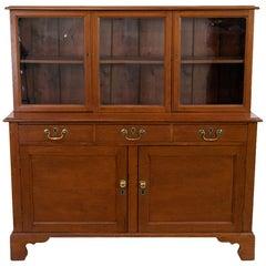 English Pine Step Back Cabinet