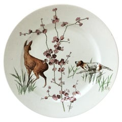 English Plate Hunt Scene Doulton Burslem, circa 1890