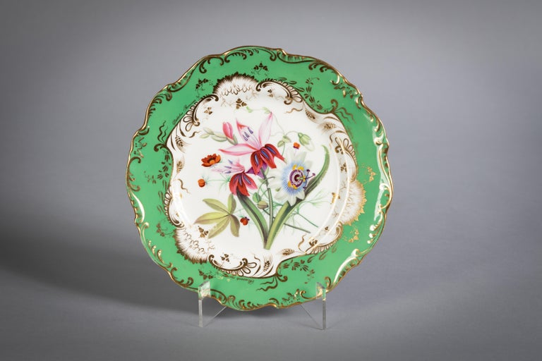 English Porcelain Botanical Dinner Service, Coalport, circa 1840 For Sale 8