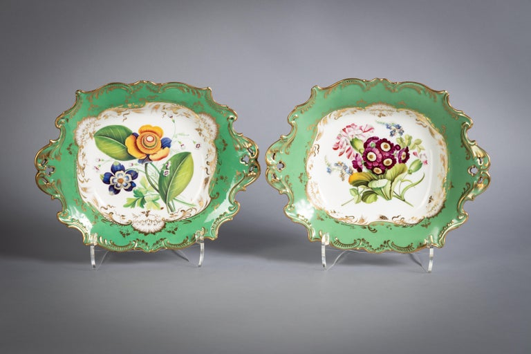 English Porcelain Botanical Dinner Service, Coalport, circa 1840 For Sale 13