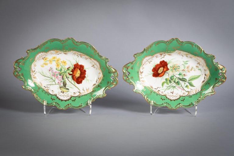 English Porcelain Botanical Dinner Service, Coalport, circa 1840 For Sale 14