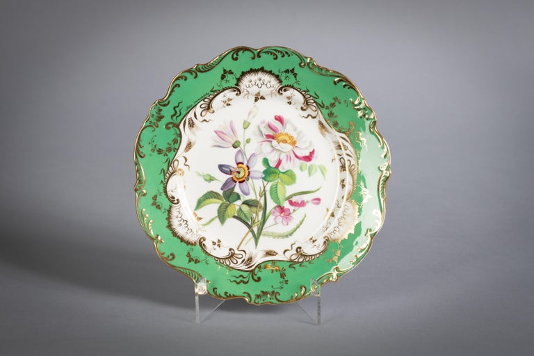 English Porcelain Botanical Dinner Service, Coalport, circa 1840 For Sale 5