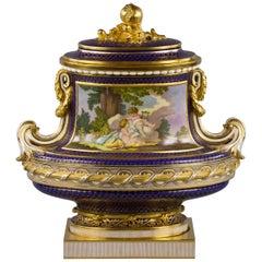 English Porcelain Covered Vase, Minton, circa 1875