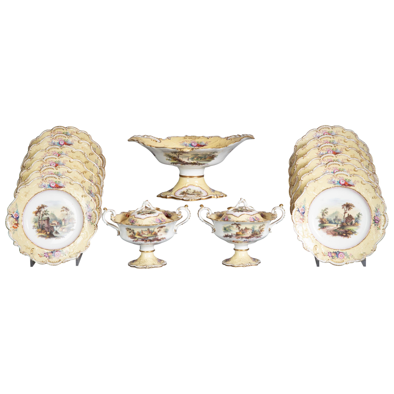 English Porcelain Dessert Service, circa 1820