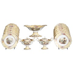 English Porcelain Dessert Service, circa 1820