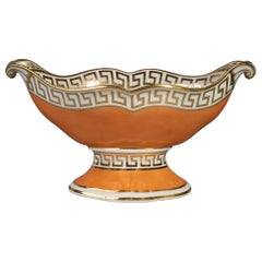 English Porcelain Orange and Gold Centerpiece, circa 1820