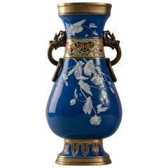 English Porcelain Pate-Sur-Pate Vase, Mintons, circa 1900