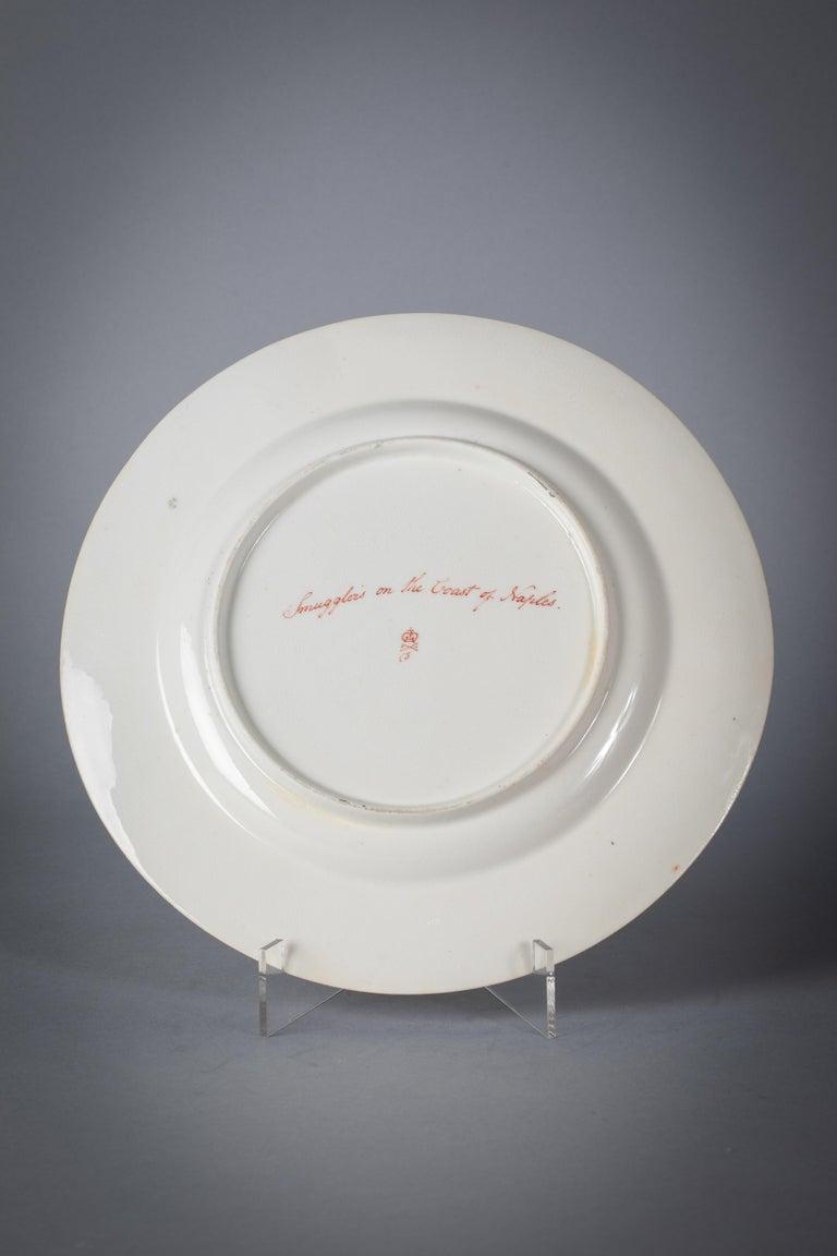 English Porcelain Peach-Ground Dessert Service, Derby, circa 1820 For Sale 6