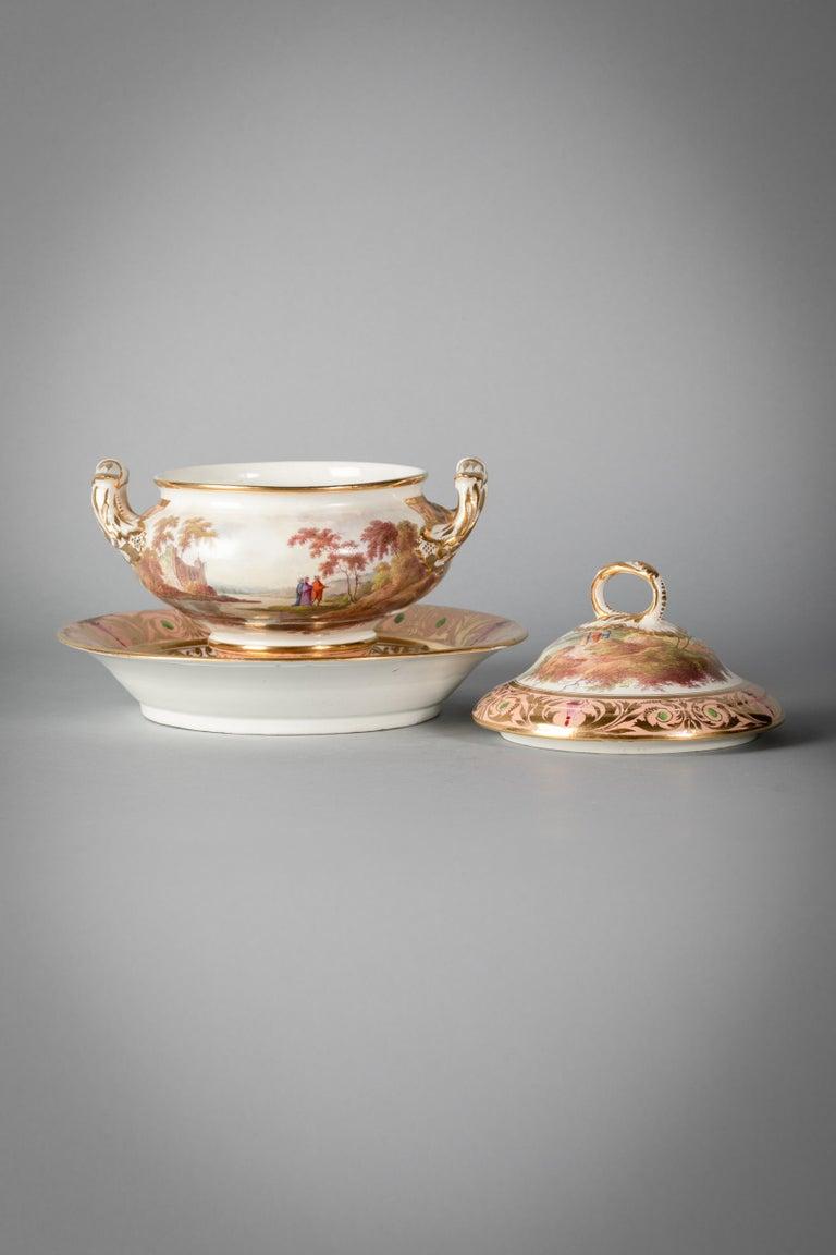 English Porcelain Peach-Ground Dessert Service, Derby, circa 1820 For Sale 12
