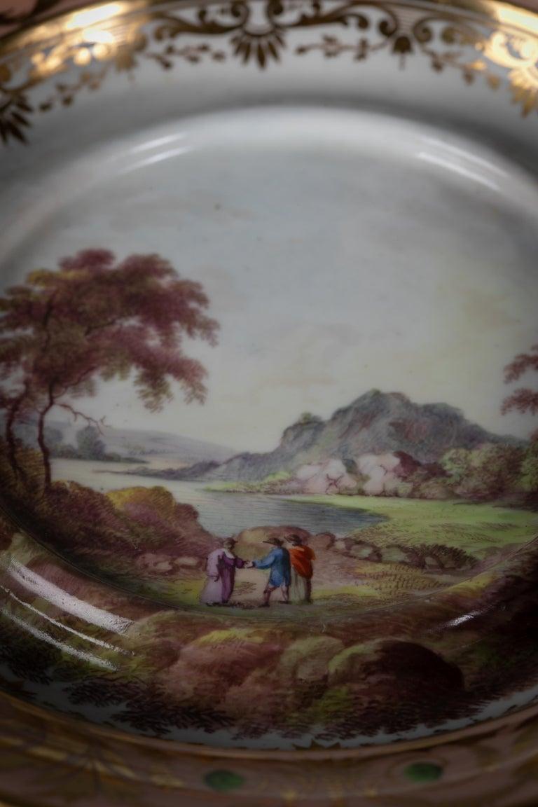 English Porcelain Peach-Ground Dessert Service, Derby, circa 1820 For Sale 13