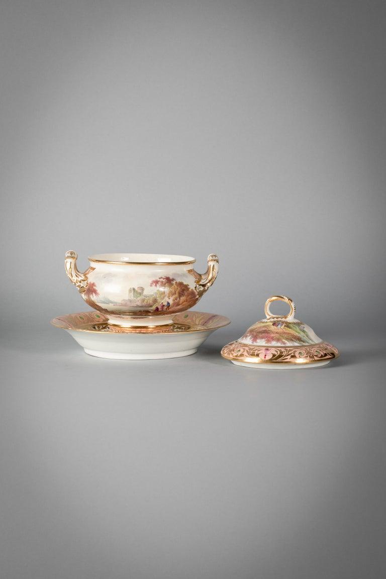 English Porcelain Peach-Ground Dessert Service, Derby, circa 1820 For Sale 15