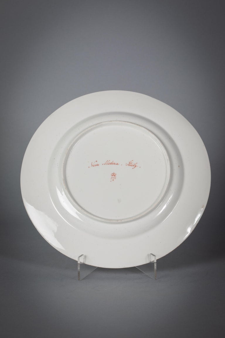 Early 19th Century English Porcelain Peach-Ground Dessert Service, Derby, circa 1820 For Sale
