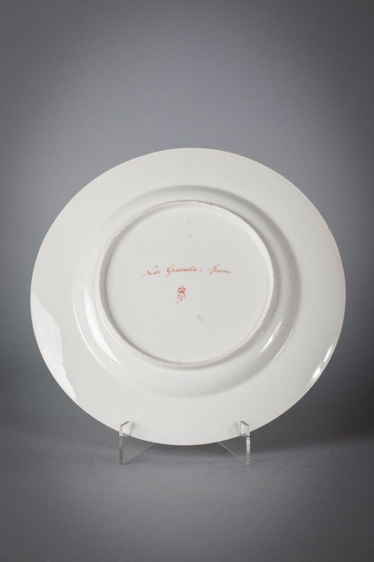 English Porcelain Peach-Ground Dessert Service, Derby, circa 1820 For Sale 2