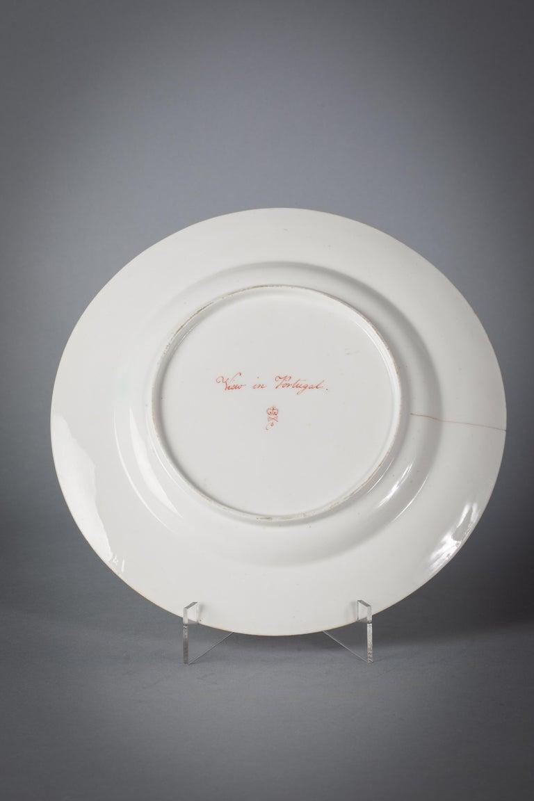 English Porcelain Peach-Ground Dessert Service, Derby, circa 1820 For Sale 4