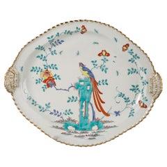 English Porcelain Platter, Worcester, circa 1760