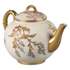 English Porcelain Pot, Royal Worcester, Dated 1888