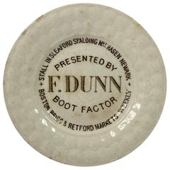 English Pottery Child's Advertising Plate, circa 1840