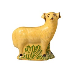 English Pottery Figure of a Ram in the Form of a Money Box Early 19th Century