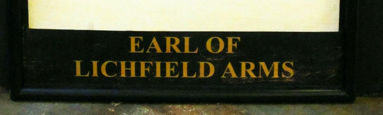 English Pub Sign, Earl of Lichfield Arms For Sale 2