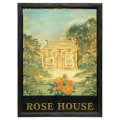 "English Pub Sign, ""Rose House"""
