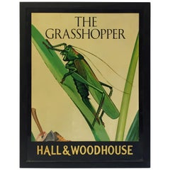 "English Pub Sign, ""The Grasshopper"""