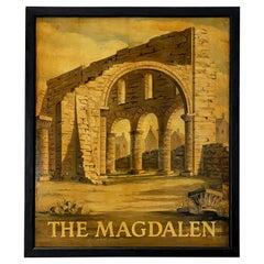 "English Pub Sign ""The Magdalen"""
