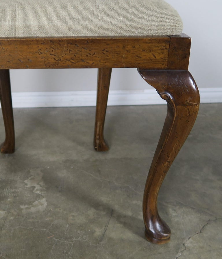 Early 20th Century English Queen Anne Style Side Chairs, Set of Four For Sale