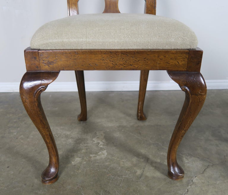 English Queen Anne Style Side Chairs, Set of Four For Sale 4