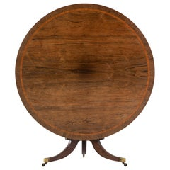 English Regency 19th Century Rosewood Circular Table