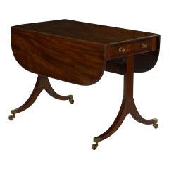 English Regency Antique Mahogany Sofa Accent Table, circa 1815
