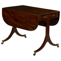 English Regency Antique Mahogany Sofa Accent Table, circa 1815